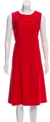 Ter Et Bantine Wool Sleeveless Dress Red Wool Sleeveless Dress