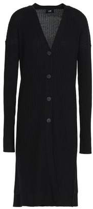 Line Ribbed Cashmere Cardigan