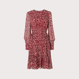 LK Bennett Damiell Leopard Print Dress