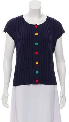 Saint Laurent Short Sleeve Knit Cardigan