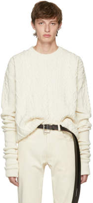 Y/Project Ivory Asymmetric Sleeve Sweater