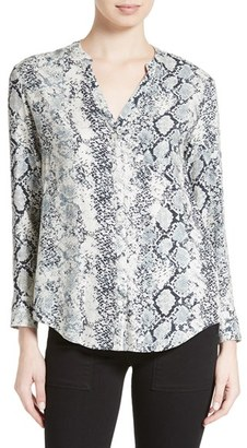 Women's Soft Joie 'Dane' Snake Print Button Front Blouse $148 thestylecure.com