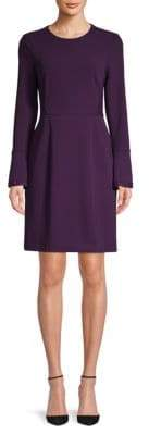 Donna Karan Bell-Sleeve Sheath Dress