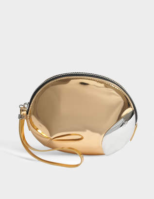 Giuseppe Zanotti Shooting Clutch Bag in Metallic Leather