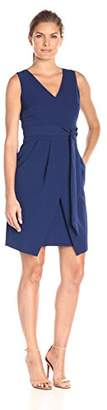Donna Morgan Women's Crepe Dress with Tie Detail At Wa $118 thestylecure.com