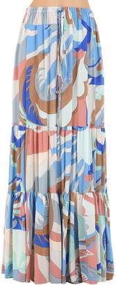 Emilio Pucci Printed Silk Long Skirt