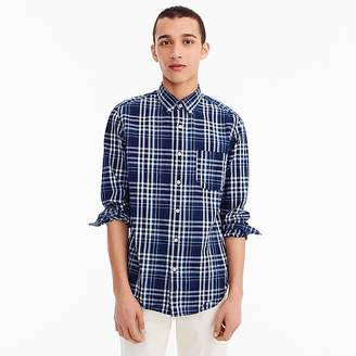 J.Crew Indian madras shirt in blue plaid
