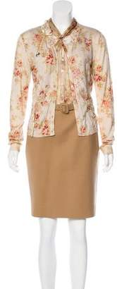 Christian Dior Cardigan Knee-Length Dress Set