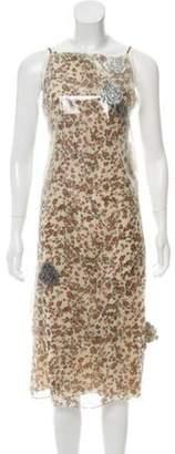 Calvin Klein Layered Midi Dress Tan Layered Midi Dress