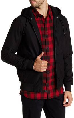 GLOBE Goodstock Snap-Off Hooded Bomber Jacket $89.95 thestylecure.com