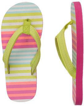 Carter's Striped Flip Flops