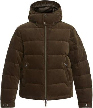 Ralph Lauren Quilted Corduroy Hooded Puffer Jacket