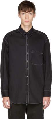 Neil Barrett Black Oversized Contrast Stitch Shirt