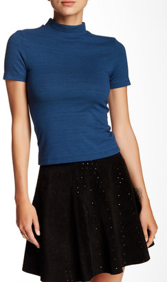 American Apparel Short Sleeve Mock Neck Shirt $42 thestylecure.com