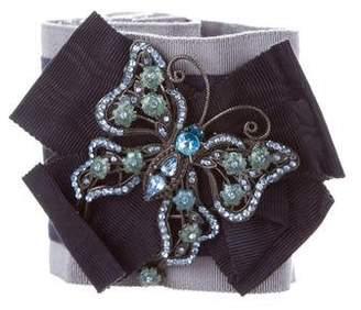 Dolce & Gabbana Embellished Striped Waist Belt w/ Tags