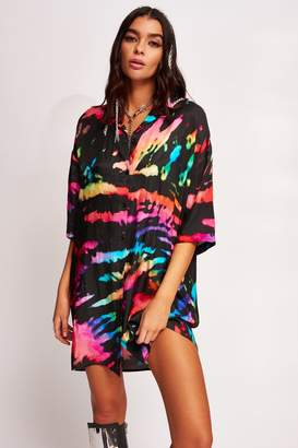 Jaded London Womens **Festival Shirt Dress By Multi