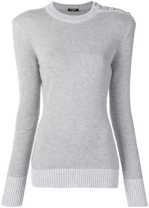 Balmain buttoned shoulder jumper