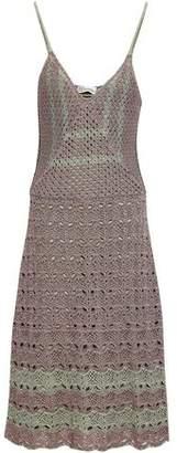 RED Valentino Pointelle-knit Cotton Midi Dress