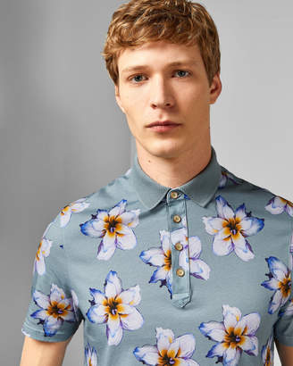 Ted Baker MANTIS Floral printed cotton polo shirt