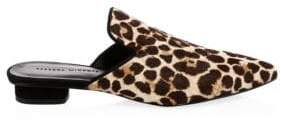 Rebecca Minkoff Chamille Too Leopard Calf Hair Mules