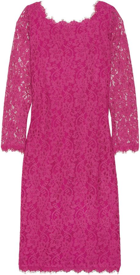 Diane von Furstenberg Zarita floral-lace dress