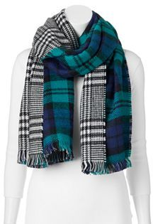 Apt. 9® Plaid Reversible Oblong Blanket Scarf $32 thestylecure.com