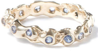LaParra Jewels Gold Eternity Ring With Light Blue Sapphires