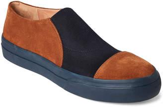 Dries Van Noten Navy & Rust Slip-On Sneakers