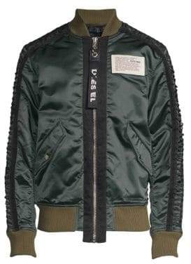 Diesel Early Logo-Patch Bomber Jacket