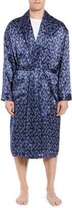 Majestic International Sapphire Silk Robe