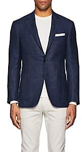 Canali Men's Kei Wool-Blend Two-Button Sportcoat-Navy