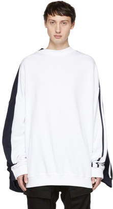 Y/Project White and Navy Double Sweatshirt