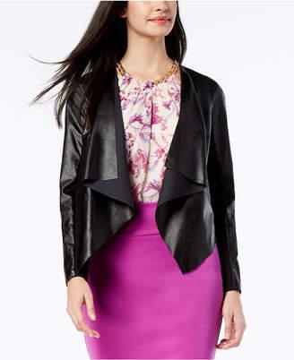 Thalia Sodi Faux-Leather Lace-Back Moto Jacket, Created for Macy's