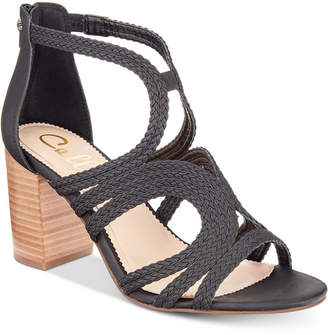 Callisto Shindig Strappy Block-Heel Sandals Women's Shoes