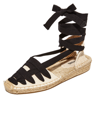 Soludos Laced Demi Wedge Sandal $79 thestylecure.com