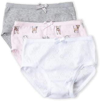 Rene Rofe Toddler Girls) 3-Pack Pointelle Bikini Panty