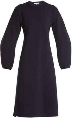 Tibi Sculptured-sleeve wool-blend ribbed-knit dress