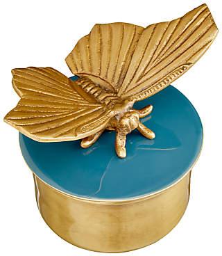 John Lewis & Partners Butterfly Round Trinket Box
