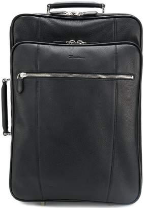 Santoni pebbled suitcase