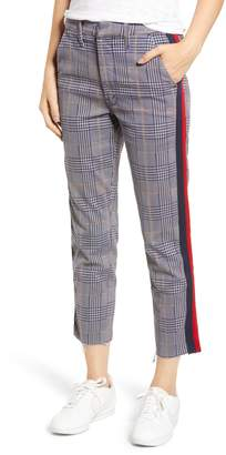 Mother The Shaker Prep High Waist Fray Crop Plaid Pants