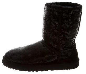 UGG Australia Sequined Ankle Boots $85 thestylecure.com