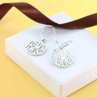 MonogramOnline Sterling Silver Monogram Shepherd Hook Earrings