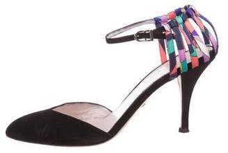 Emilio Pucci Suede Pointed-Toe Pumps