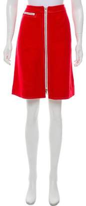 Courreges Wool A-Line Skirt
