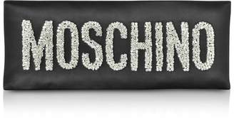Moschino Black Oversized Signature Clutch
