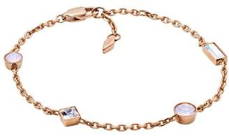 Fossil Heritage Shapes Rose Gold-Tone Stainless Steel Bracelet jewelry ROSE GOLD