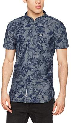 Superdry Men's Ghost Button Down Casual Shirt,X-Large