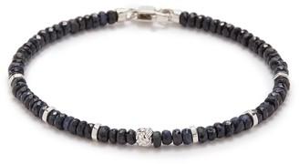 Tateossian 'Nodo Precious' sapphire bead rhodium silver bracelet