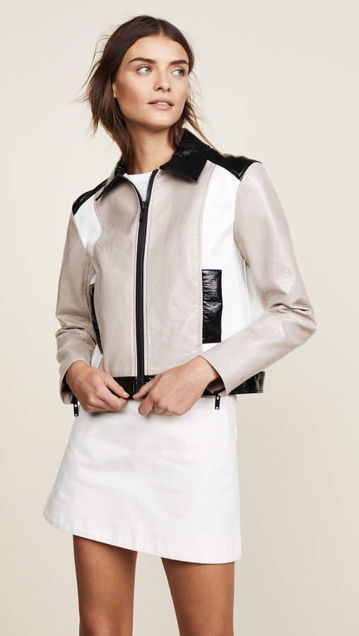 Short Zipped Tricolor Jacket