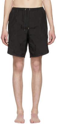 Neil Barrett Black Thunderbolt Swim Shorts